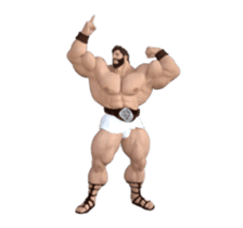 HERCULES The Ultimate Muscle Man 3D sticker #12992342