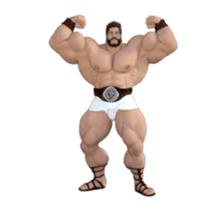 HERCULES The Ultimate Muscle Man 3D sticker #12992343