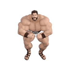 HERCULES The Ultimate Muscle Man 3D sticker #12992347