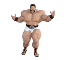 HERCULES The Ultimate Muscle Man 3D sticker #12992350