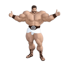 HERCULES The Ultimate Muscle Man 3D sticker #12992359