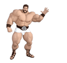 HERCULES The Ultimate Muscle Man 3D sticker #12992364