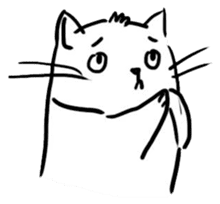 Cute cats in sketches (N.4) by trikono sticker #12997509