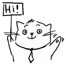 Cute cats in sketches (N.4) by trikono sticker #12997510