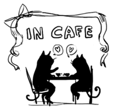 Cute cats in sketches (N.4) by trikono sticker #12997512