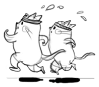 Cute cats in sketches (N.4) by trikono sticker #12997514