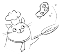 Cute cats in sketches (N.4) by trikono sticker #12997515
