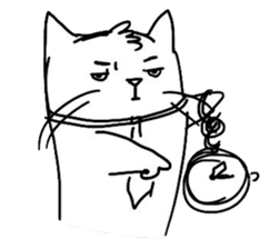 Cute cats in sketches (N.4) by trikono sticker #12997517