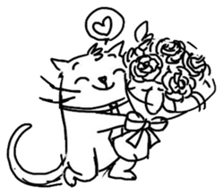 Cute cats in sketches (N.4) by trikono sticker #12997521
