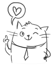 Cute cats in sketches (N.4) by trikono sticker #12997522