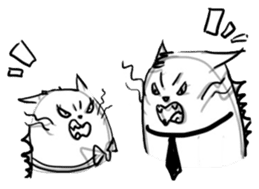 Cute cats in sketches (N.4) by trikono sticker #12997533