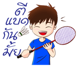Let's play Badminton (TH) sticker #12998582