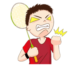 Let's play Badminton (TH) sticker #12998586