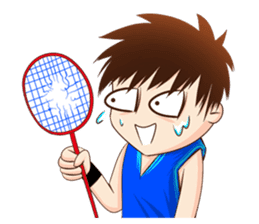Let's play Badminton (TH) sticker #12998602