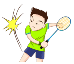 Let's play Badminton (TH) sticker #12998607