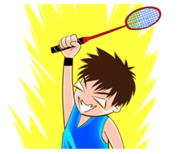 Let's play Badminton (TH) sticker #12998619