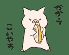 moving pig Sticker sticker #13002122
