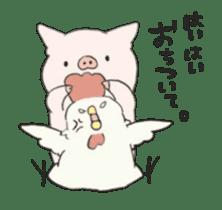 moving pig Sticker sticker #13002123