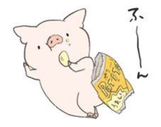 moving pig Sticker sticker #13002126