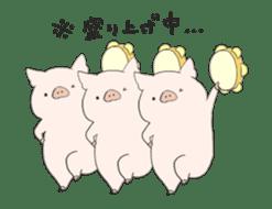 moving pig Sticker sticker #13002130