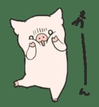 moving pig Sticker sticker #13002135