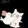 moving pig Sticker