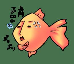 NAGATO goldfish!! sticker #13005389