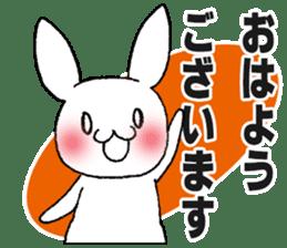 Fun Fun rabbit sticker #13008854