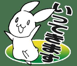 Fun Fun rabbit sticker #13008855