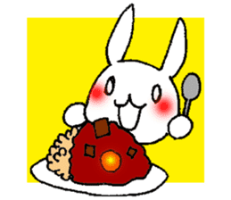 Fun Fun rabbit sticker #13008866