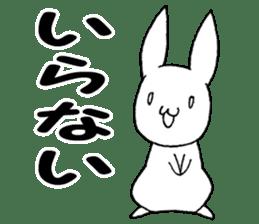 Fun Fun rabbit sticker #13008876