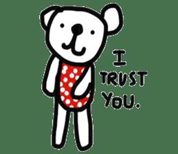 Polka Bear 2 sticker #13014782