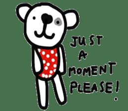 Polka Bear 2 sticker #13014786