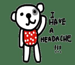 Polka Bear 2 sticker #13014788