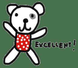 Polka Bear 2 sticker #13014790