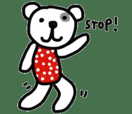 Polka Bear 2 sticker #13014792