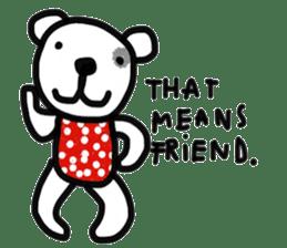 Polka Bear 2 sticker #13014793