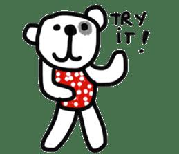 Polka Bear 2 sticker #13014794