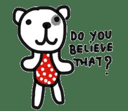 Polka Bear 2 sticker #13014796