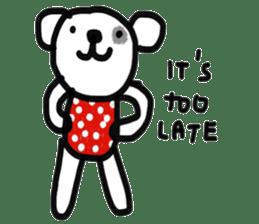 Polka Bear 2 sticker #13014797
