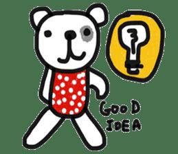 Polka Bear 2 sticker #13014800