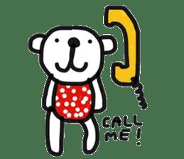 Polka Bear 2 sticker #13014801