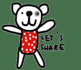 Polka Bear 2 sticker #13014803