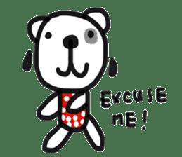 Polka Bear 2 sticker #13014804