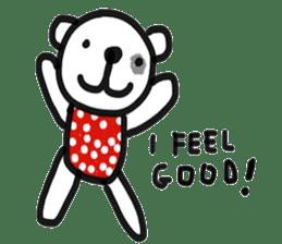 Polka Bear 2 sticker #13014810