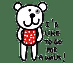 Polka Bear 2 sticker #13014817