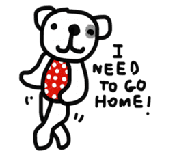 Polka Bear 2 sticker #13014821
