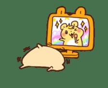 animation Idle geek hamster sticker #13015905