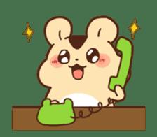 animation Idle geek hamster sticker #13015907