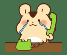animation Idle geek hamster sticker #13015908